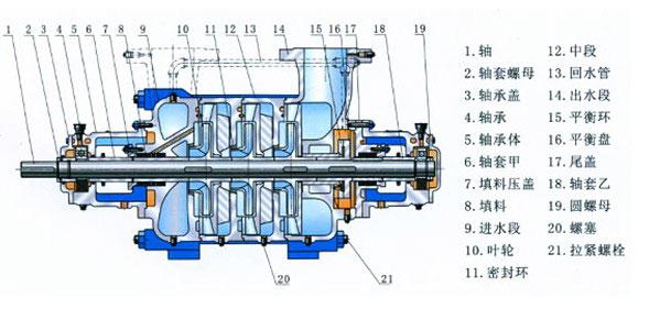 给水离心泵结构图