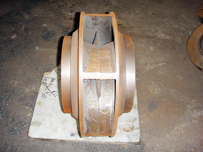 双吸式离心泵叶轮图片